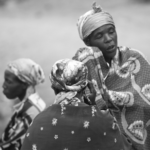 Three Women, Nkuringo, 2012