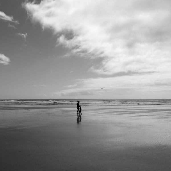 Two Figures, Cannon Beach, 2016