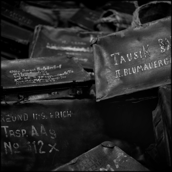 Victims' Suitcases, Auschwitz, 2001